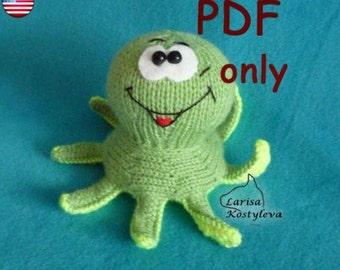 Octopus, knitting amigurumi pattern