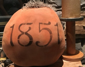 Primitive made to order large halloween Fall pumpkin
