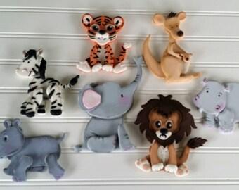 Fondant Safari Animals