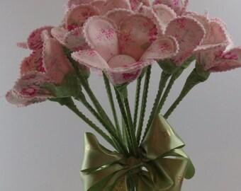 Ready Made Fabric Flower per stem
