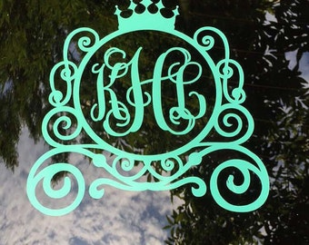 Monogram Car Decal Monogram Car Sticker Vine Monogram Car - Monogram decal on car