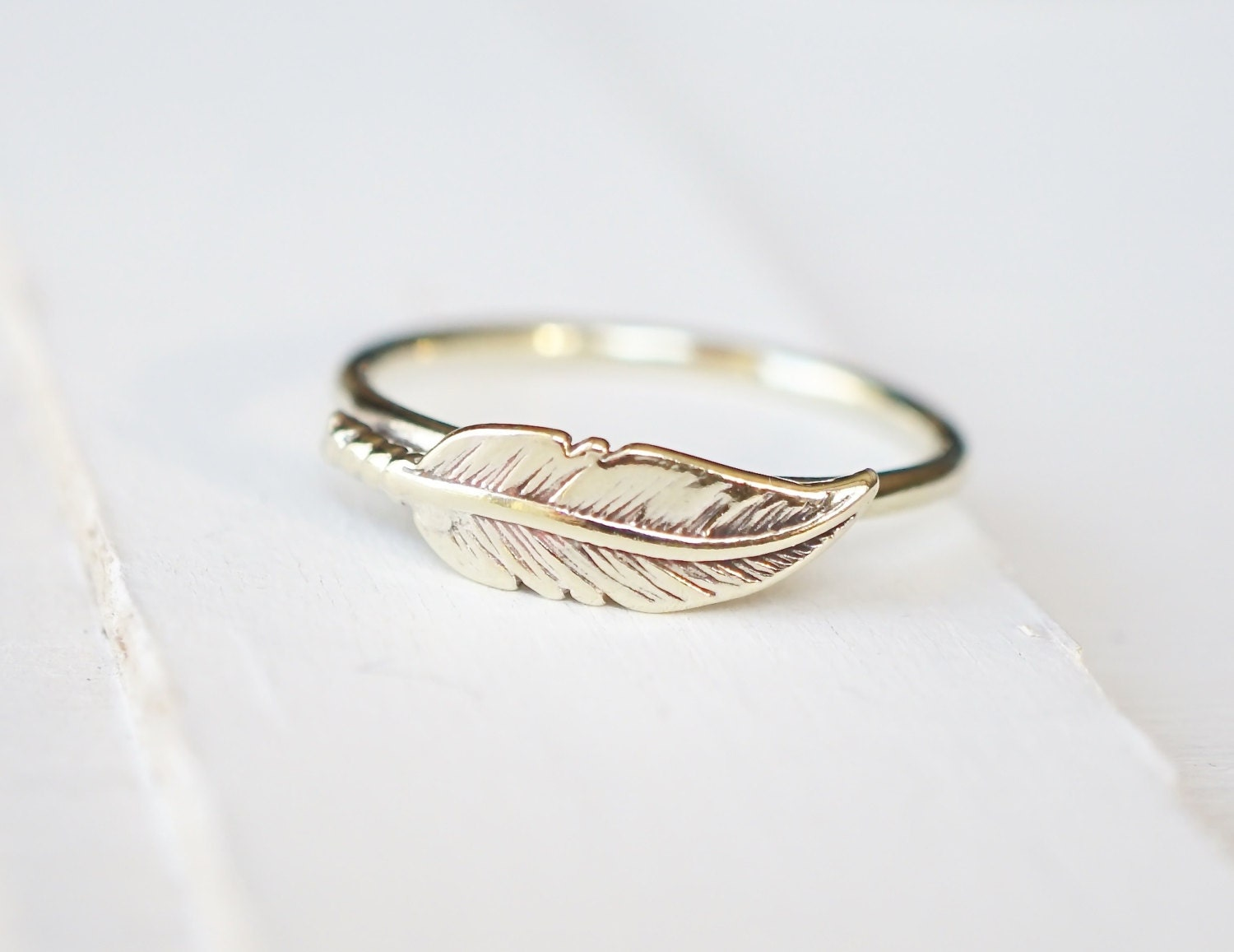 silver feather ring feather jewelry sterling silver by