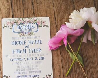 FLORAL|Wedding Invitation Set #71