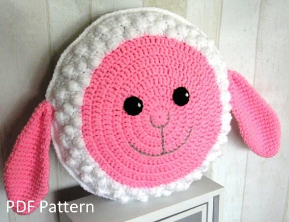 Sheep Pillow / Cushion PDF Crochet Pattern crochet