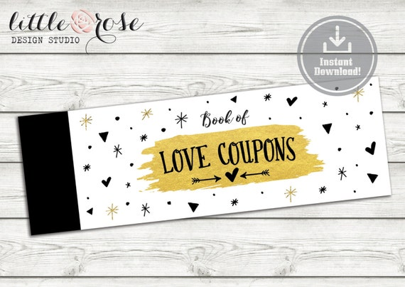 Printable Blank Love Coupons