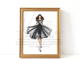 Posh (Couture Fashion Illustration Print)