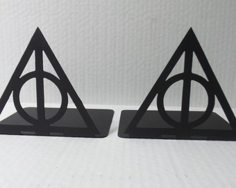 Harry Potter Inspired Deathly Hallows Always Metal Bookends