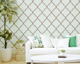 Moroccan Wallpaper / Self Adhesive or Traditional Wallpaper D237