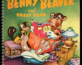 "1945 ""Benny the Beaver"" Animated Childrens Book"