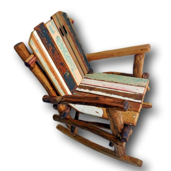 details made to order reclaimed wood rocking chairs