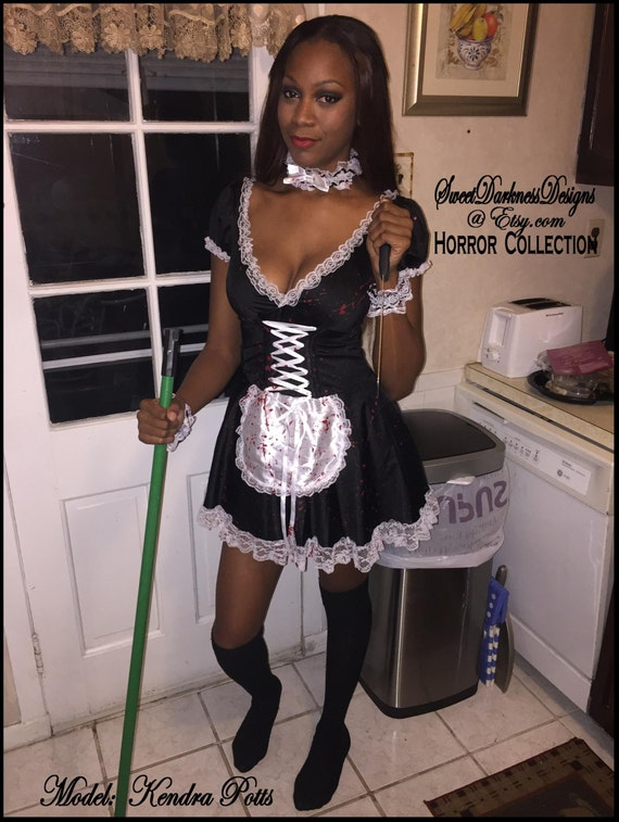 bloody french maid sexy maid costume french maid costume