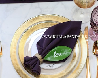 Plum Napkin 20 x 20 inches | Eggplant Napkins, Aubergine Napkins, Wholesale Cloth Napkins, Wedding Table Decor