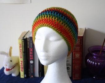 Rainbow Crochet Beanie
