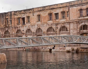 Malta Photography, 3 Cities, Vittoriosa, Art Photography, Historic Architecture Photography, Home Art Decor, Only 10 Prints Available.