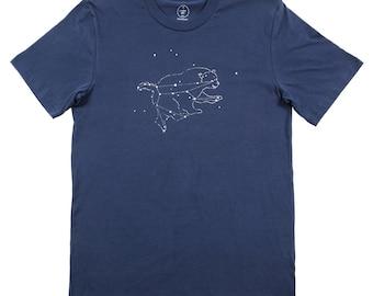 Ursa Major Bear Constellation Tee - Men's Made in USA Cotton Navy Tshirt
