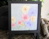 Mini painting | abstract floral | mini canvas painting | abstract small art | framed painting | small canvas art | mini easel art
