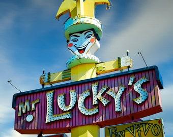 Mr. Luckys Neon Sign