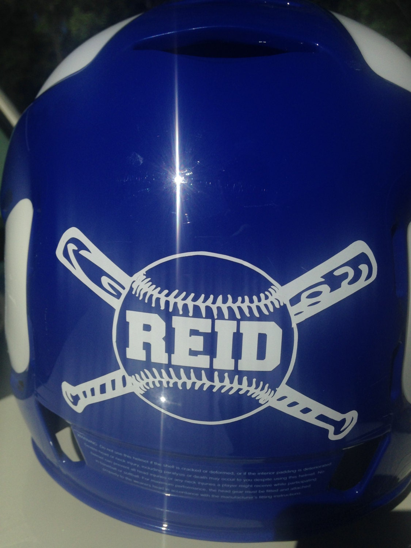 Your Name Baseball Helmet Decal