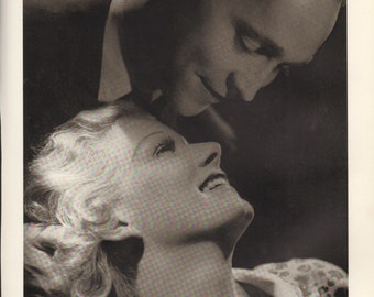 Print from book; Robert Taylor and Jean Harlow photo by Ted Allan, 9 x 12 inches - PD001093