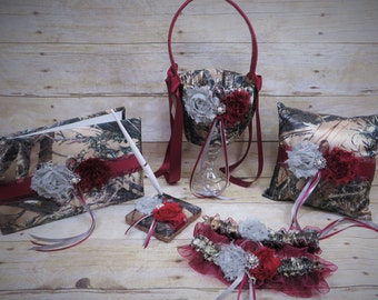wine red camo wedding set customize this set camo and wine red camo