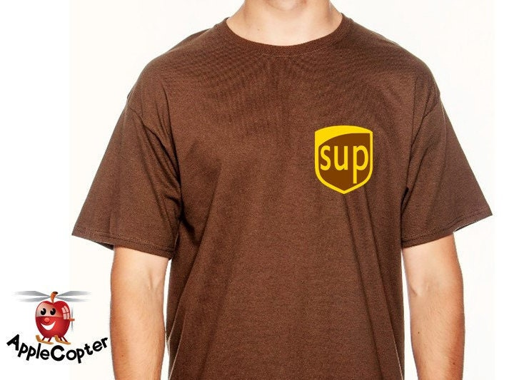 UPS Man Costume Guys Ups Halloween Shirt Boys UPS costume