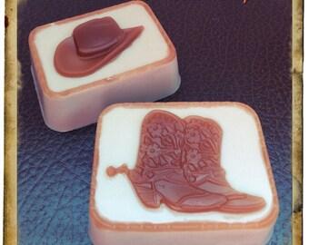 Wild West Goat's Milk Soap/Cowboy Boots/Hat