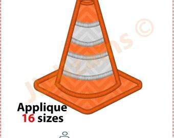 Traffic Cone Applique Design. Traffic cone embroidery design. Embroidery cone. Applique cone. Traffic cone. Machine embroidery design