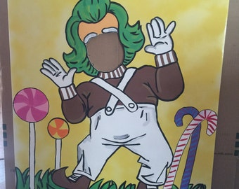 Oompa Loompa Party- Willy Wonka Party- Oompa Loompa birthday- Chocolate Factory Decor- Oompa Loompa cutout- Willy Wonka Decoration- violet