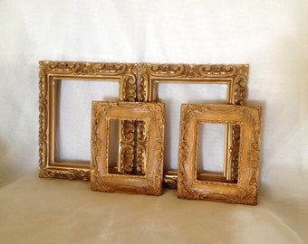 4 Faux Wood Open Gallery style Picture Frames