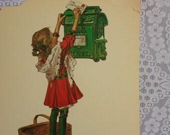 J.C. Leyendecker poster Letter to Santa, Leyendecker print, Leyendecker art, store display, window display