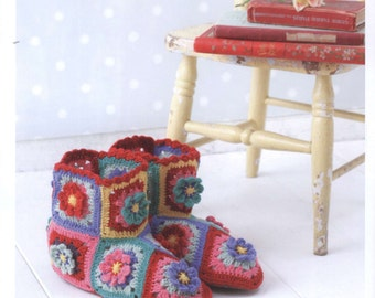 27 Colorful Crochet Designs - Crochet Patterns - Crochet Room Shoes - Crochet Bags -  japanese crochet ebook - PDF - digital download
