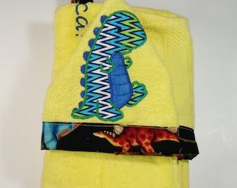 Dinosaur Hooded Towel/ Kids hooded towel/ Dino Towel-Kids hooded towel- Toddler Hooded Towel