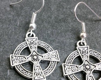 Celtic Cross Earrings