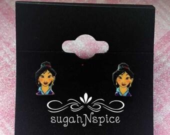 Princess Mulan Earrings - Mulan Posts - Mulan Studs - Princess Earrings - Disney Princess Earrings - Disney Princesses Earrings