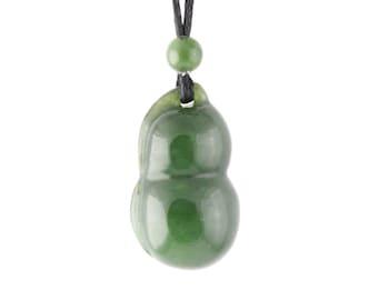 Canadian Nephrite Jade Pendant, Gourd