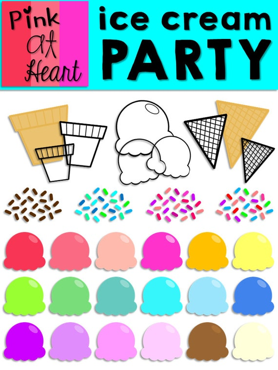 clip art ice cream party - photo #6