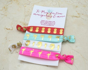 Tropical - Set of 4 - Hair Ties