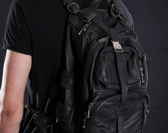 THE COLLECTOR BACKPACK - Accessories, Backpack, Pockets - Leather - Limited- littleKINGDesigns