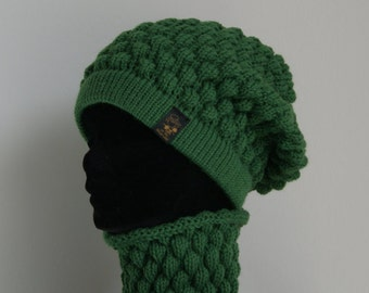 Hat and neck warmer-complete BOMBAY-unisex