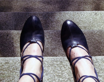 Heels Vintage 50s - size 39 / / Vintage 50