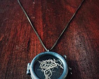wild foraged moss curio locket necklace // wild foraged moss // victorian inspired locket