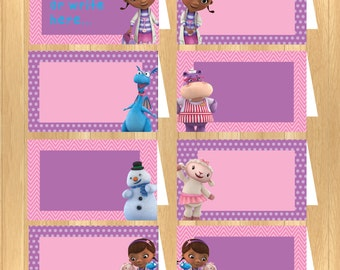 INSTANT DOWNLOAD - EDITABLE Doc McStuffins Food Tent