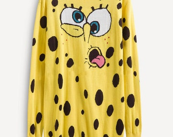 Spongebob Long Sweater Dress Kitsch Dress