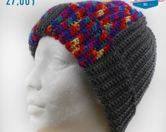 Tuque - Grey Hat and multricouleur
