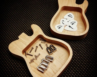 Wooden Guitar-shaped Trays (Size Small)