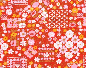 Alexander Henry Fabrics City Park - Vintage Retro Fifties Sixties Mod Floral Flowers Garden - Out Of Print OOP VHTF