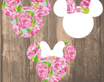 Lilly Pulitzer {inspired} Magic Band Decal | Lilly Pulitzer Disney Decal | Lilly Pulitzer Minnie Mouse