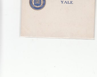 1904 Undivided Antique Postcard Greetings From Yale With University Seal