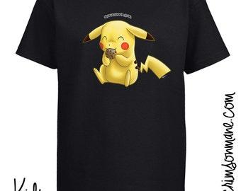 Pikachu OmNom Cookie Pokémon T-Shirt
