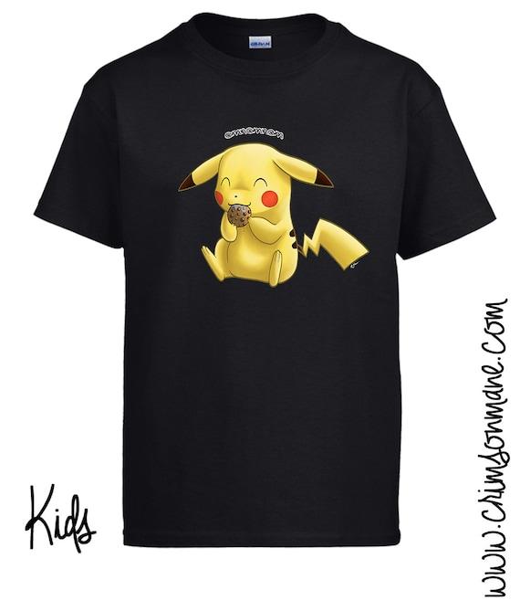 Pikachu OmNom Cookie Pokemon T-Shirt